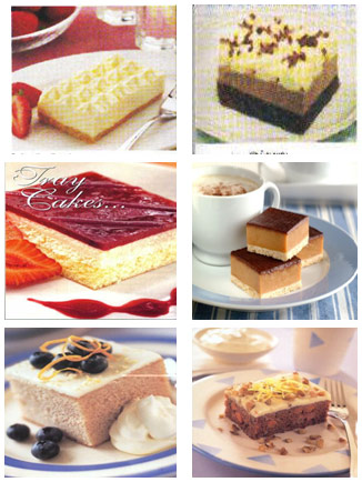 slab cakes and tarts
